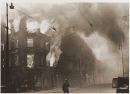 Fires were set.  Warsaw Ghetto Uprising.