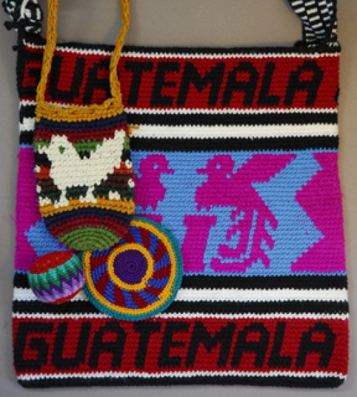 These pieces were all crocheted in Guatemala to sell to tourist.