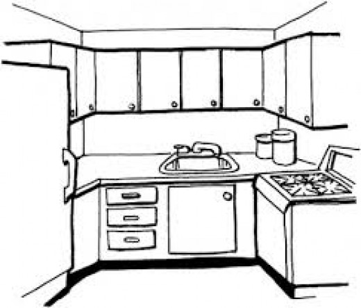 well arranged kitchen makes cooking enjoyable!
