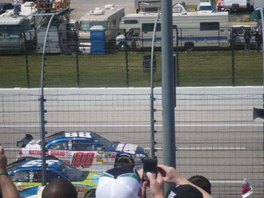 Look closely - the 99 is closest to the fence!