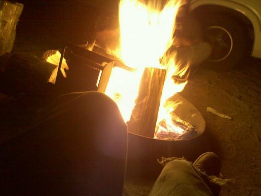 A little fire!