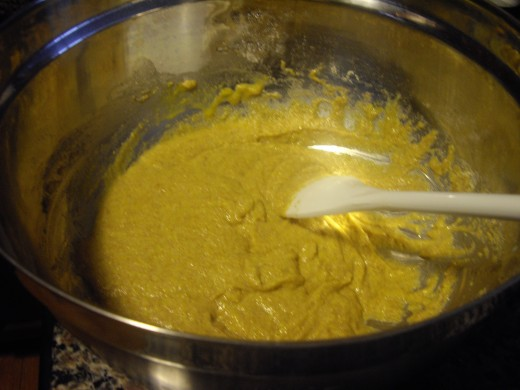Mixing my cornbread batter