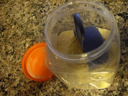 I make my Cornbread Mix in advance, and store it in a container for when I want to whip up a quick batch of cornbread or muffins