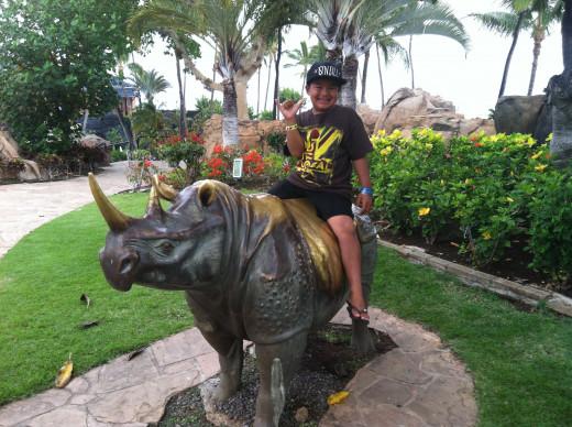 Dylan Imaikalani, My Rhino-Bustin' Grand-Nephew