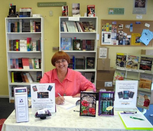 Me at my book signing event at Book Lovers Bookstore in Sacramento.