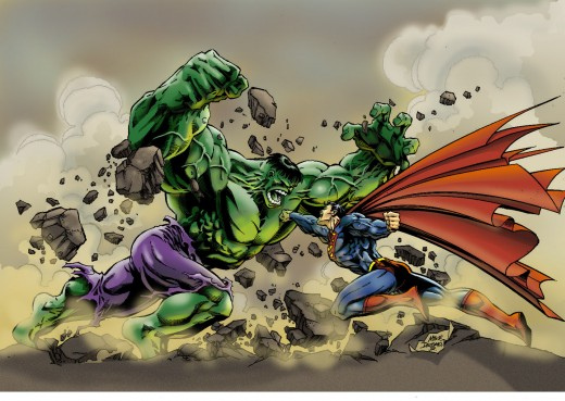 Superman vs the Incredible Hulk