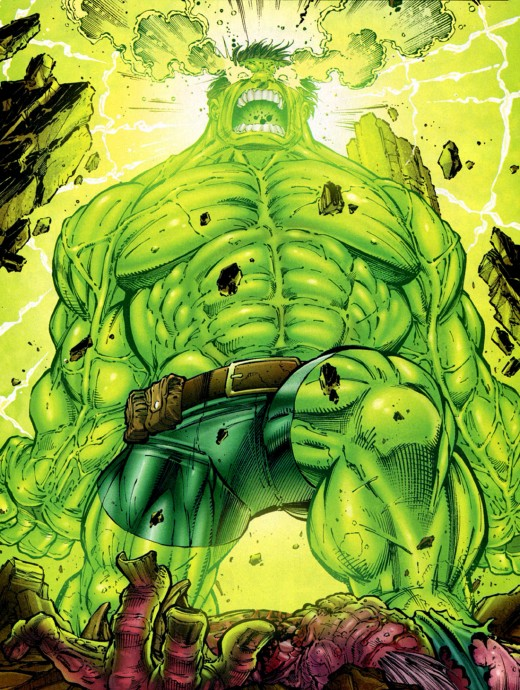 The Incredible Hulk:  A rage that could cower a god.