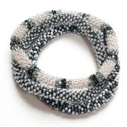 Glass Bead Roll over Bracelet
