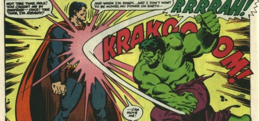 Clark's having none of it. Superman vs the Incredible Hulk
