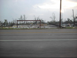This was the location of a gas station located across from one hospital in town.  Total devistation took only minutes.  Survival occurred for those who were watching, aware, prepared and actively working their plan for safety.