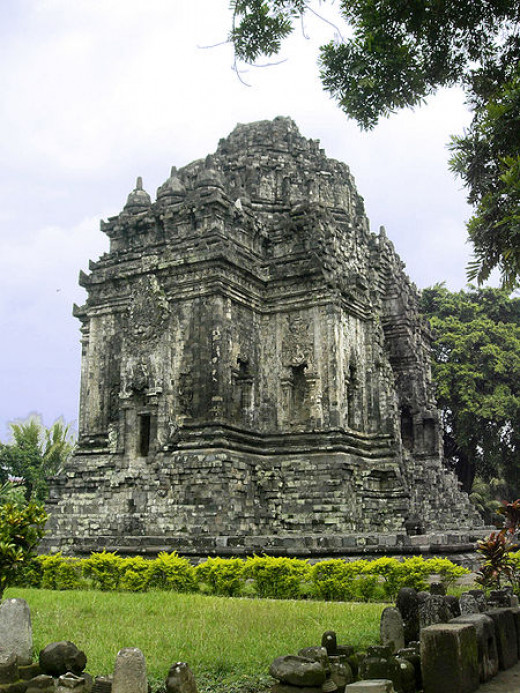 Kalasan Buddhist temple, at Kalasan, Sleman regency, Yogyakarta, Indonesia. Built by Sailendra dynasty in 8th century. Located near the south side of main road from between Yogyakarta and Prambanan.
