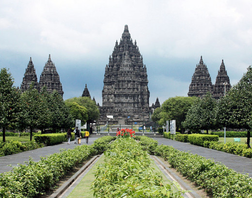 Hindu Trimurti temple Prambanan, located on the border between Yogyakarta and Central Java province.