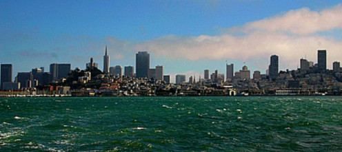 A view of San Francisco Skyline from the bay