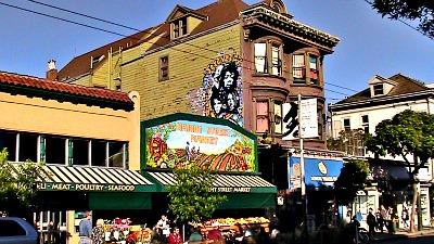 Haight street market in the Haight San Francisco