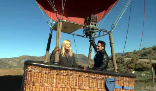 Katie organized a romantic hot air balloon ride for Bill and Brooke when they travelled to Aspen looking for Katie.