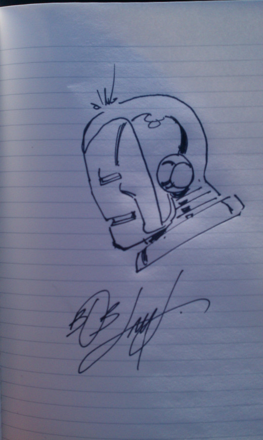 My autograph from Bob Layton