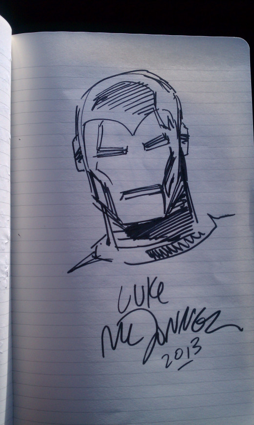 My autograph from Luke McDonnell