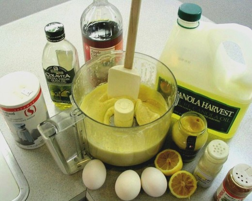 Ingredients for the perfect coleslaw mayonnaise