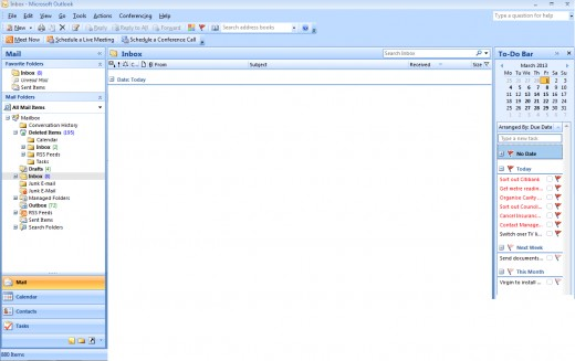 Using the To-Do Bar to access tasks in Outlook 2007 and Outlook 2010.