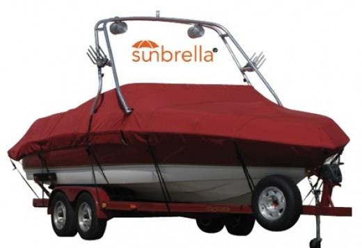 Red Sunbrella Boat Cover