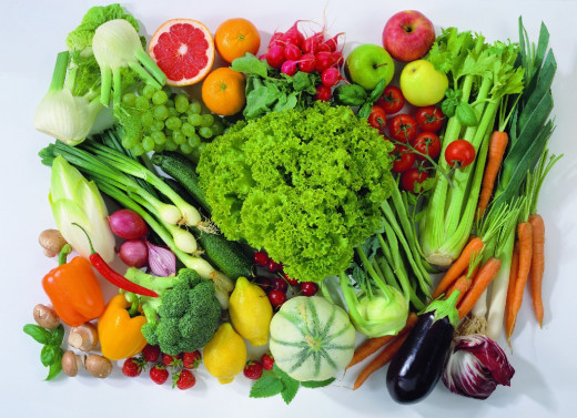 Fruit and vegetables are the healthiest food we can eat.