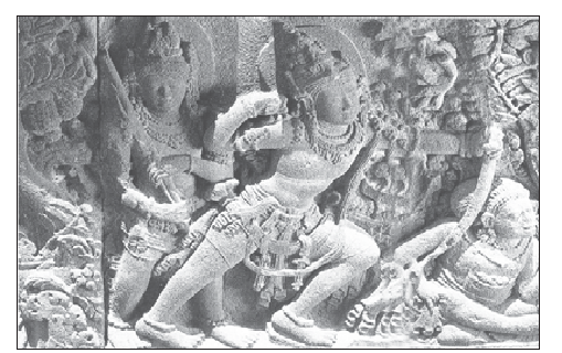 Roro Jongrang Temples Relief that tells about Ramayana Story