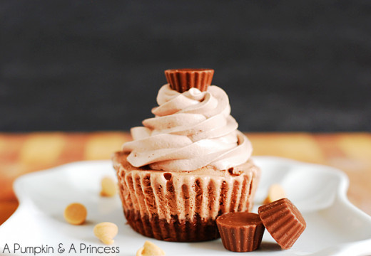 Reese's ice cream cupcakes