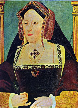 Portrait of Catherine of Aragon from the public domain