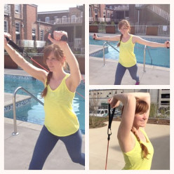 Beginner Triathlon Training Exercises – Resistance Band Arm Workout