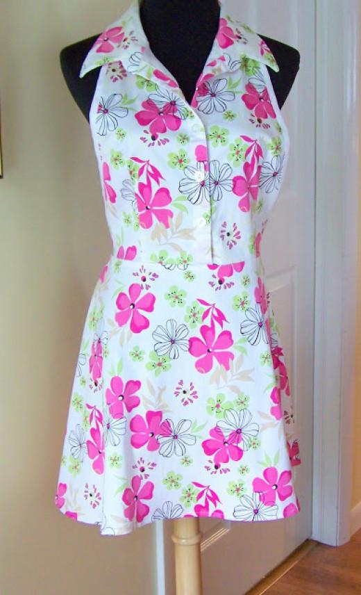 Dress into sassy apron tutorial