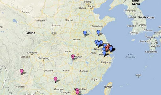 Flu outbreaks in China