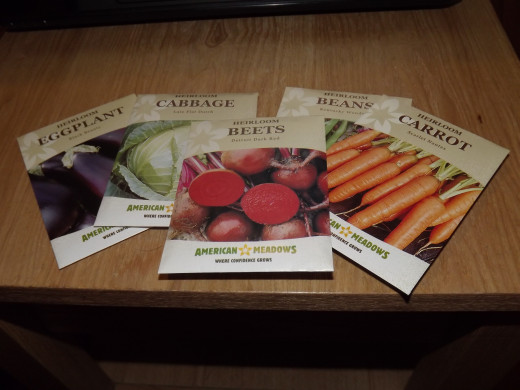 A few of the seeds I bought from American Meadows.