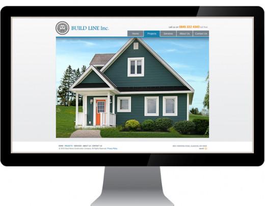 Contractor website design sample