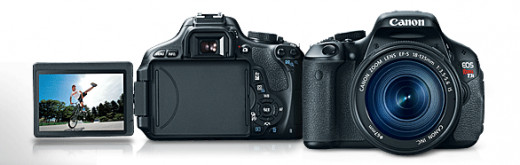 Canon EOS Rebel T3i / 600D: With fully-articulated, hi-resolution LCD screen.