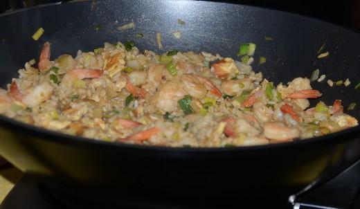 Nasi Goreng in Wok