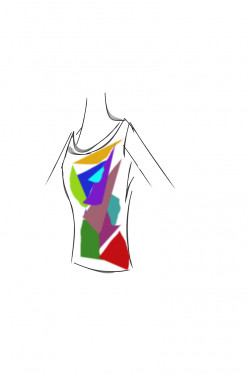 Painting abstract on a girls tee