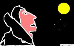 Dracula and the full moon.