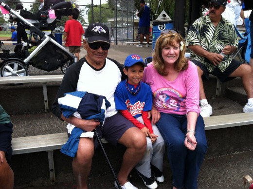 Dad, Marti, and Great-Grandson