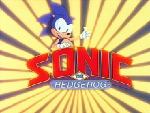 "The title logo for the show ""Sonic the Hedgehog"""