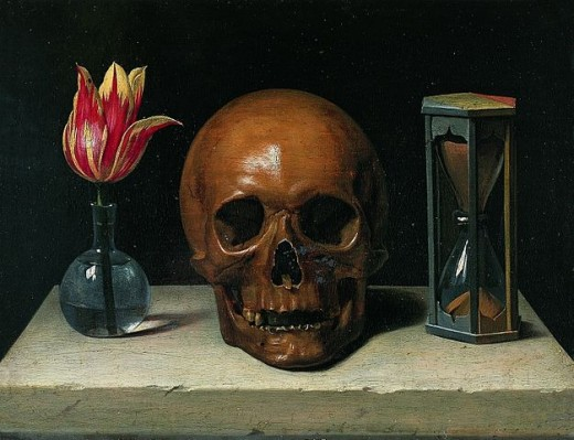 Life, Death and Time in a painting. Two out of three isn't bad.