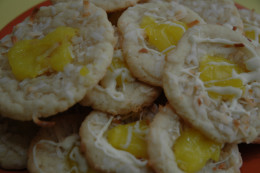 Lemon Coconut Thumbprint Cookies!