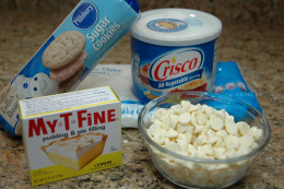 Ingredients needed to make lemon coconut thumbprint cookies.