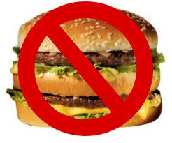 say no to fast foods