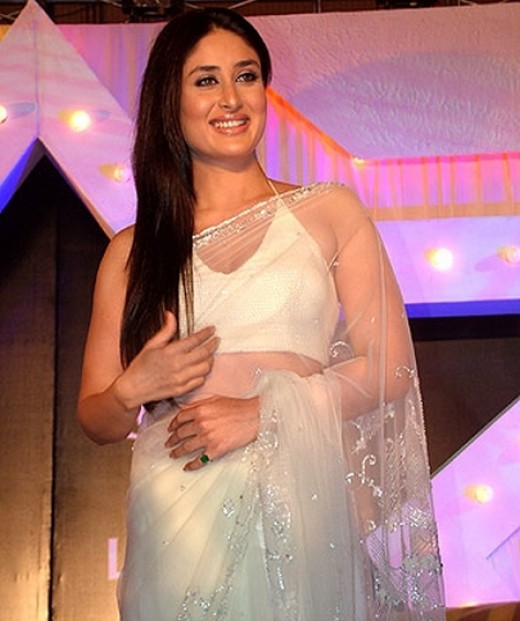 Kareena Kapoor in Transparent White Saree