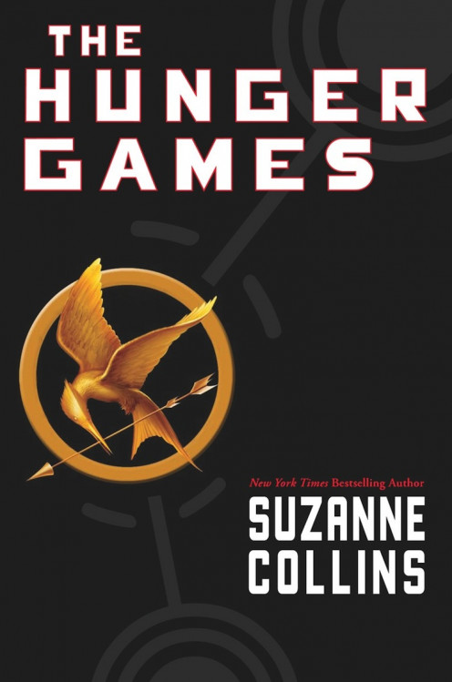 "Suzanne Collins'  New York Times bestselling book, ""The Hunger Games."""