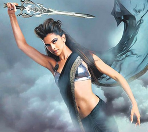 Deepika in hot in black saree