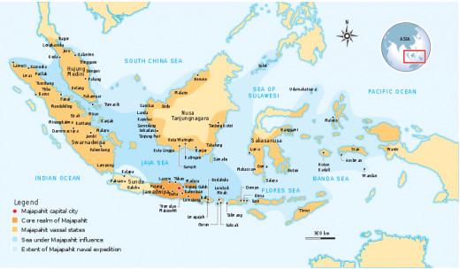 The Nusantara Archipelago during the height of Majapahit Empire in XIV century.