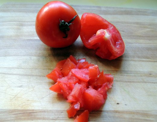 seed and dice tomatoes