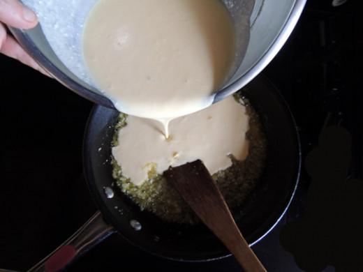 add egg mixture