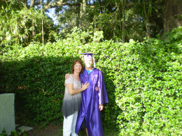 High School Graduation Day, 2010.  Age 17.